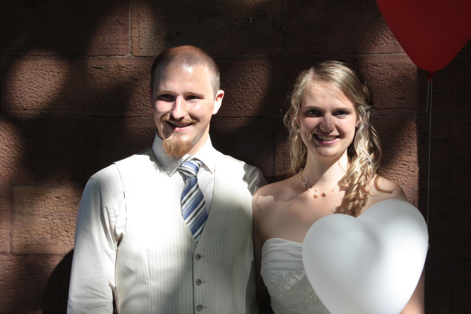 Hübsches Hochzeitspaar