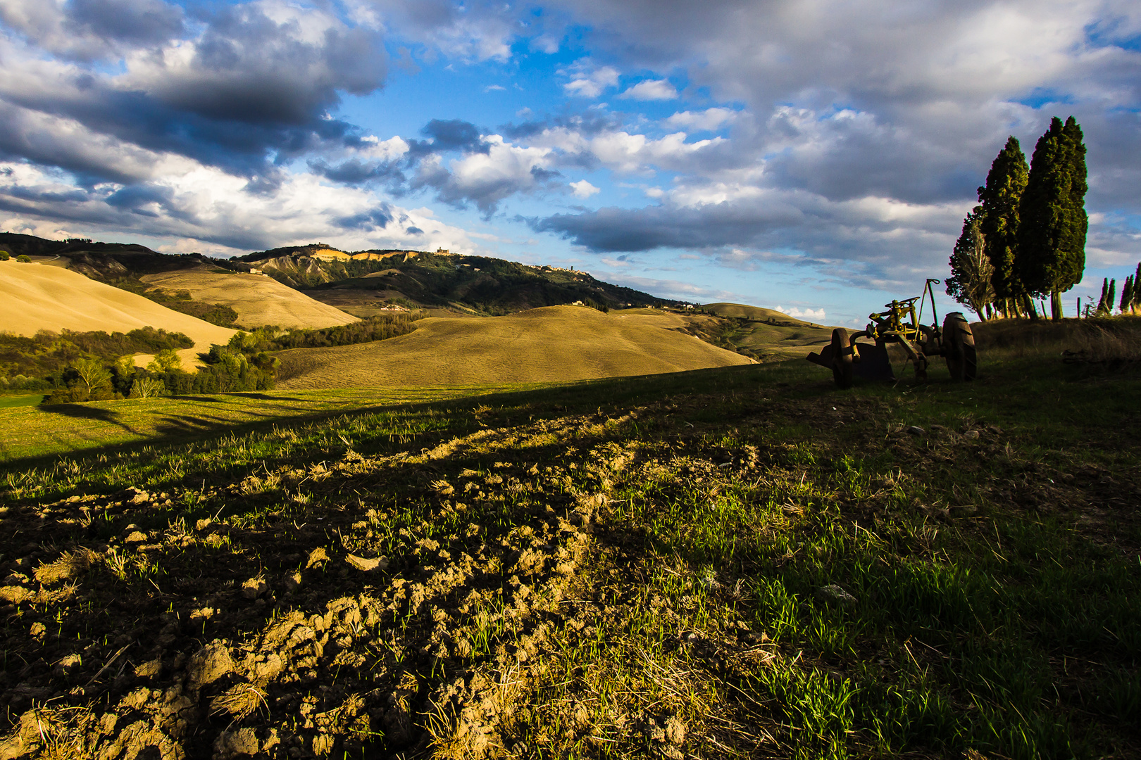 Hügel vor Volterra