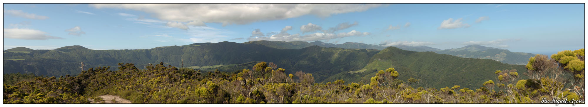 Hügellandschaft im Osten von Sao Miguel (Sao Miguel, Azoren)