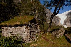 Hütte am Briksdalsbreen