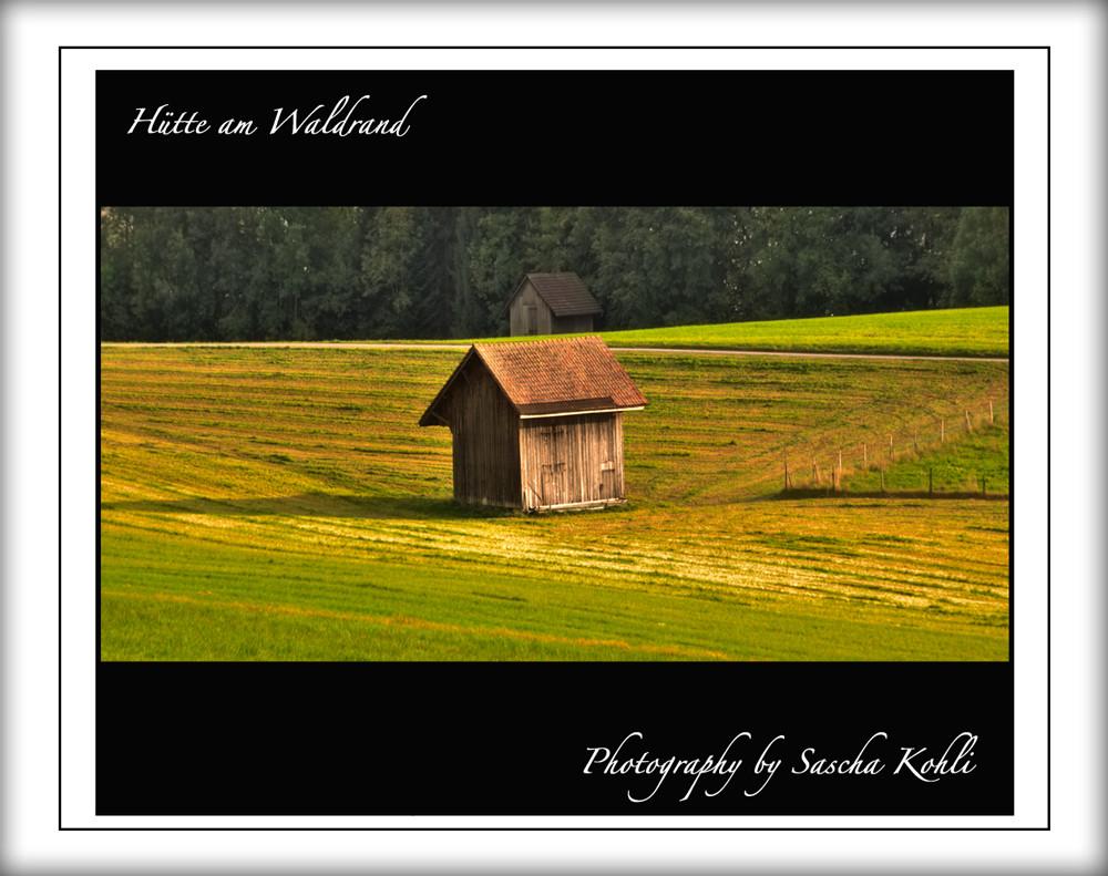 Hütte am Waldesrand