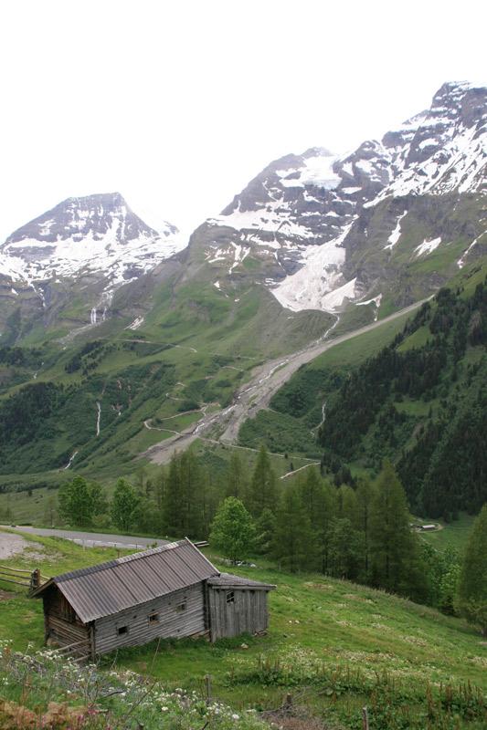 Hütte an der Grossglockner Hochalpenstrasse
