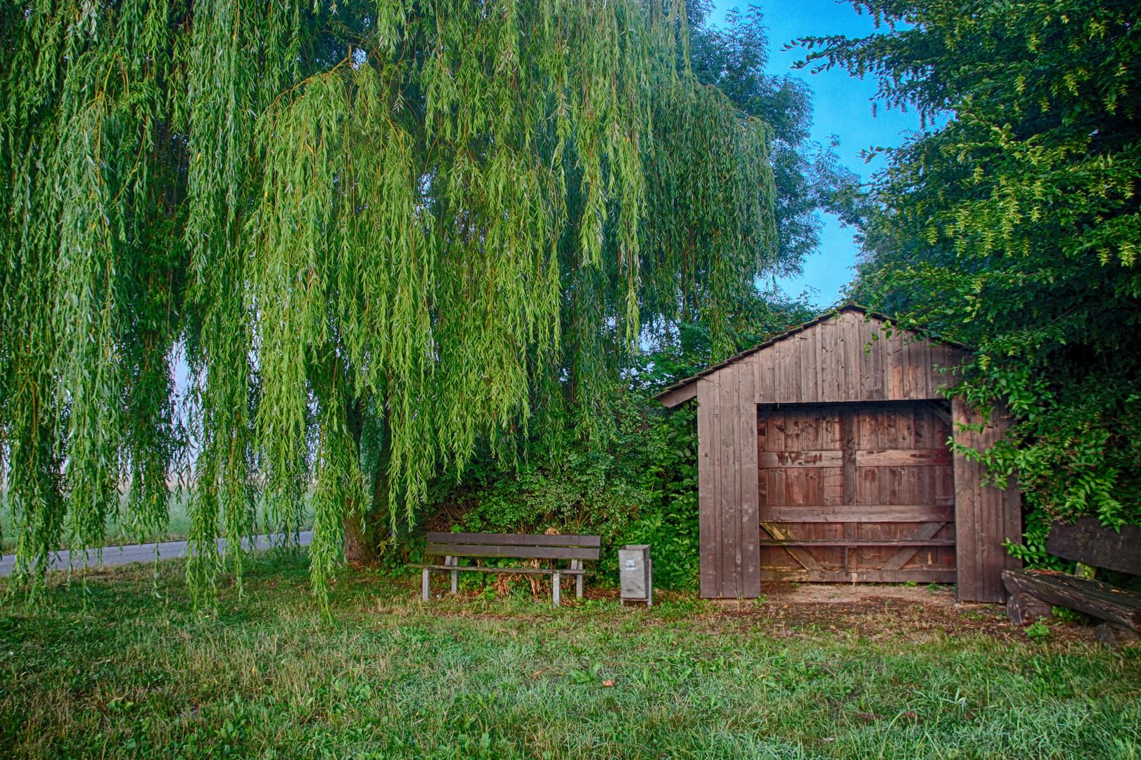 Hütte in der Feldmark