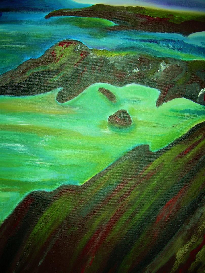 huile sur toile d 'un paysage d irlande