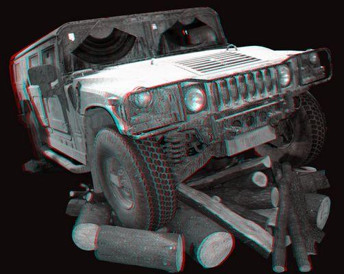 Hummer (3D Anaglyphe)