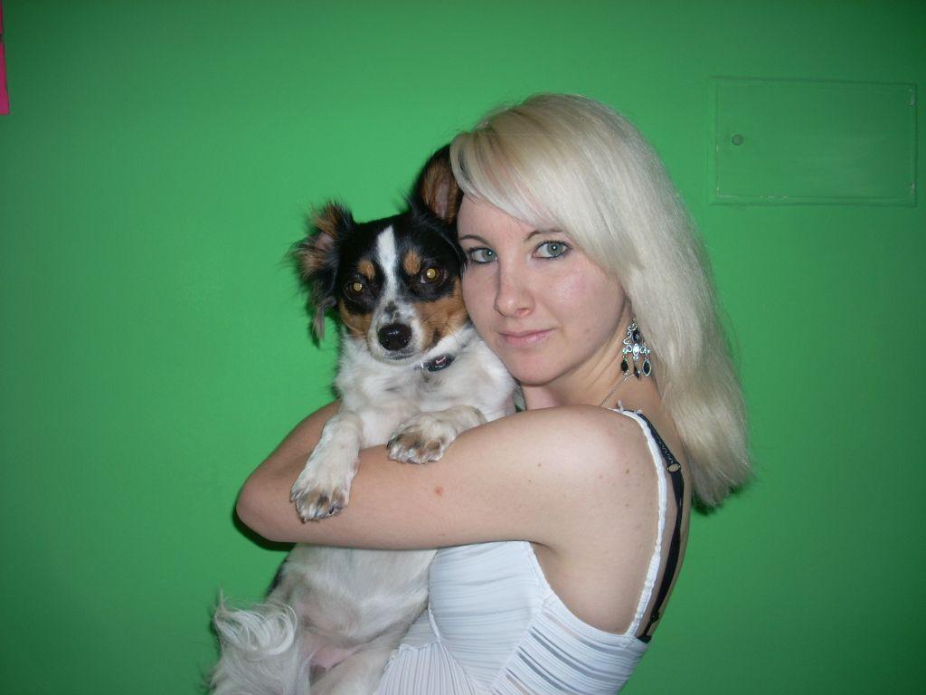 Hund mit Tochter