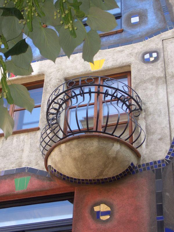 Hundertwasser balcony