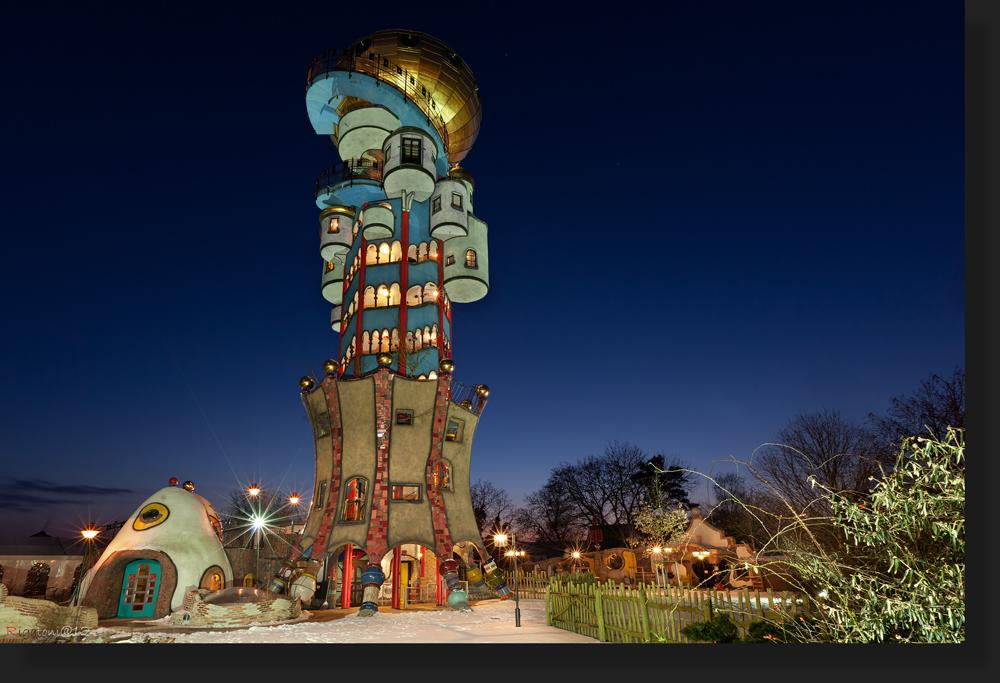 Hundertwasser turm in abensberg foto bild architektur for Hundertwasser architektur
