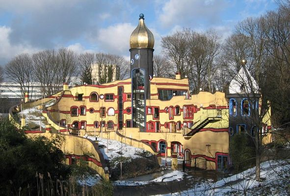 Hundertwasserhaus im Essener Grugapark