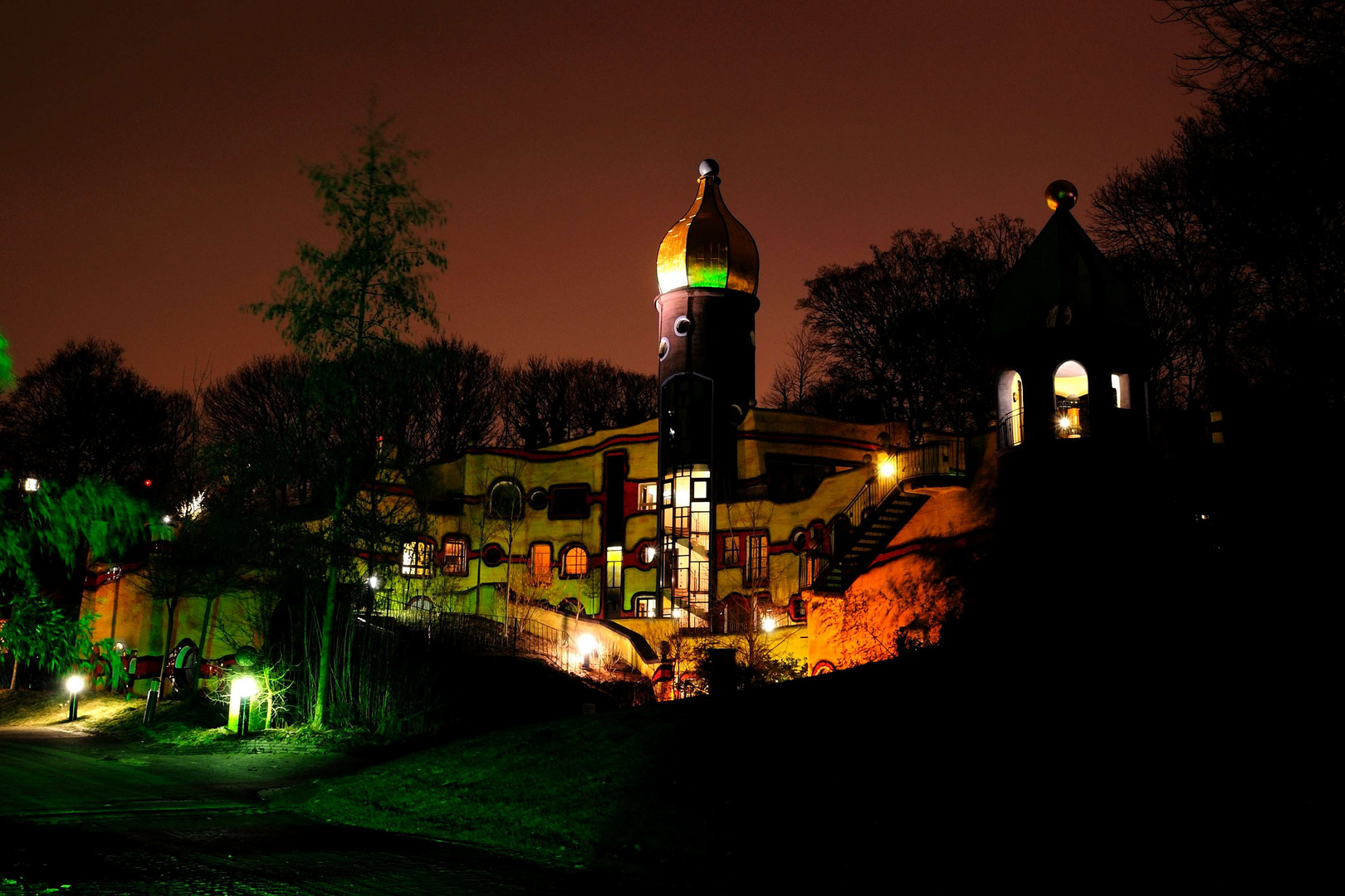 Hundertwasserhaus im Grugapark Essen