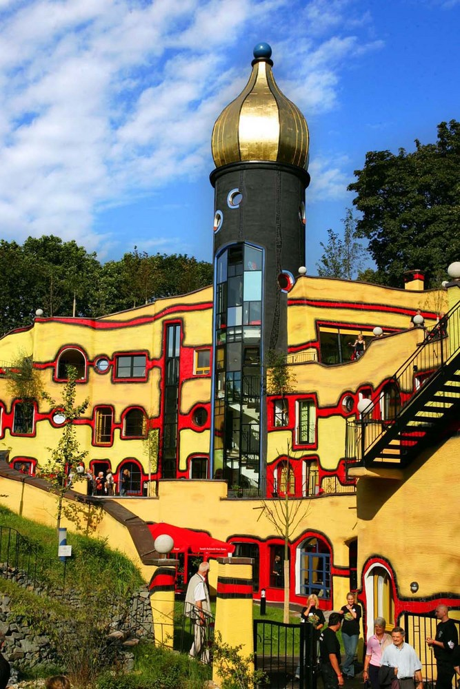 hundertwasserhaus im grugapark essen foto bild. Black Bedroom Furniture Sets. Home Design Ideas
