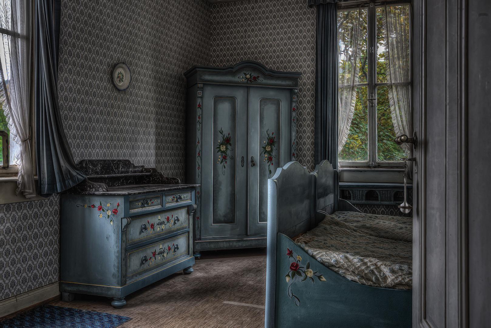 Hunters Hotel - Blue Bedroom