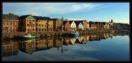Husum - Hafen am Morgen von Hans Jessen