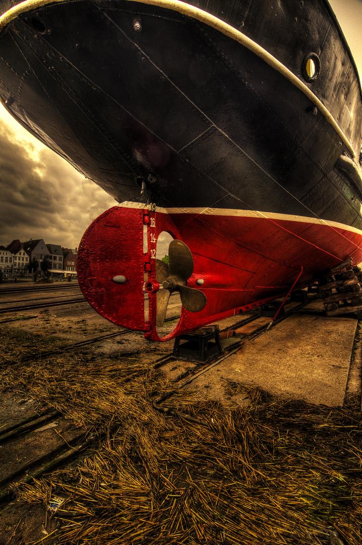 Husumer Werft im Morgengrauen
