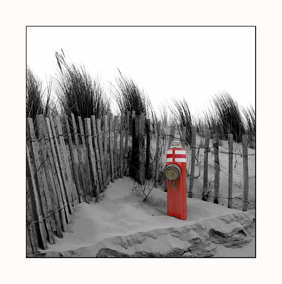 Hydrant am Strand ...