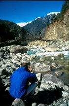Hymalaya, Khumbu region, Catch the catcher.