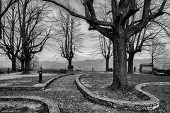 I giardini del castello di San Vigilio, Bergamo alta