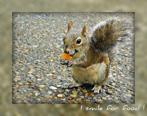 I smile for food ;-)