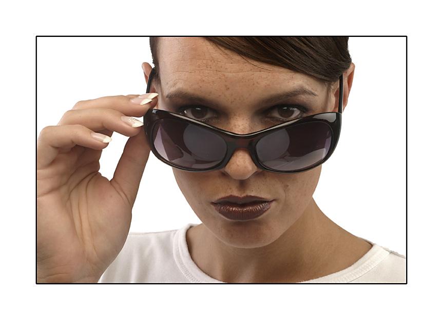 I wear my sunglasses...