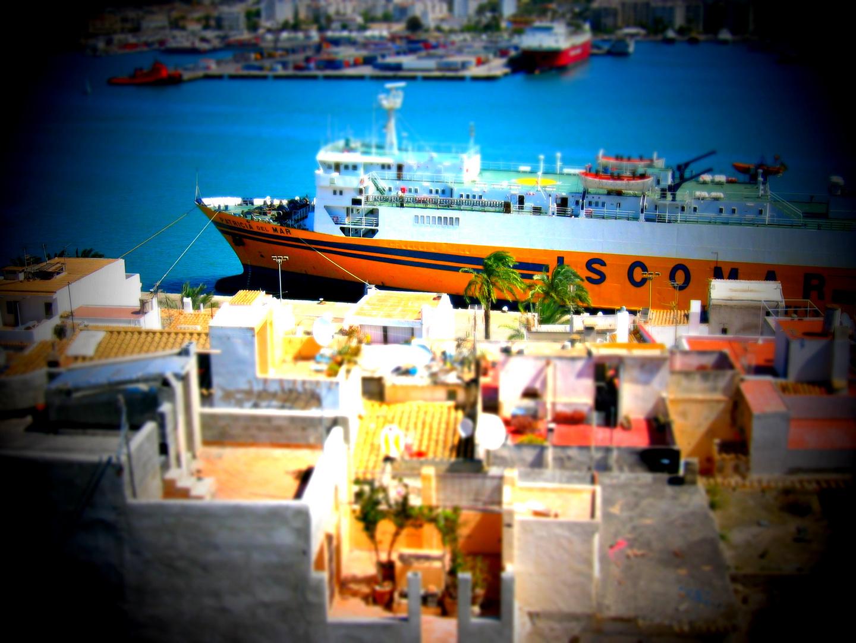 Ibiza Altstadt mit Hafen