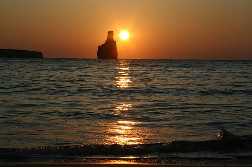 Ibiza Sonnenuntergang am Benirras
