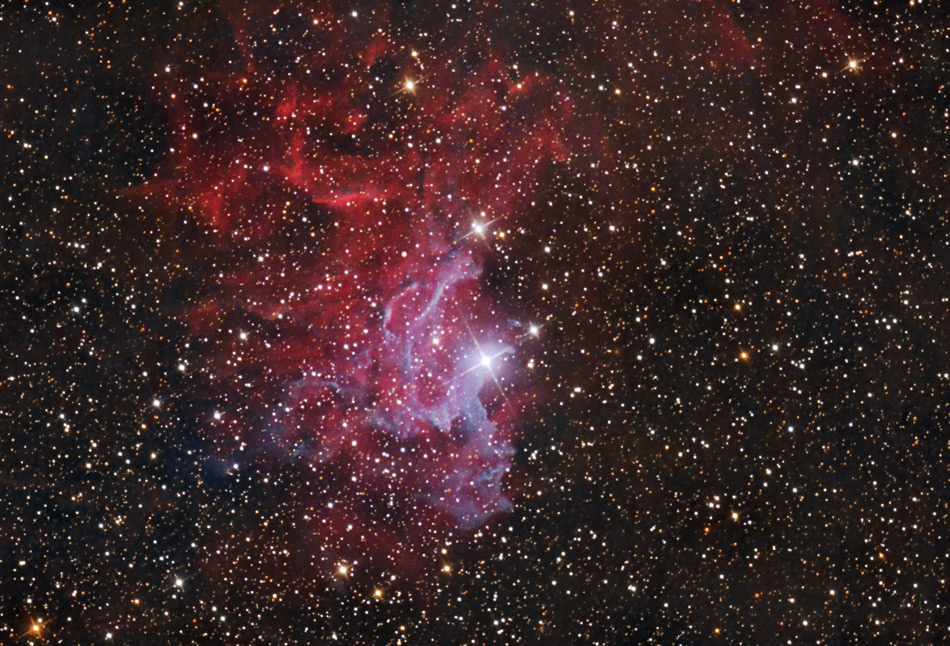 IC405 - Flaming Star Nebel