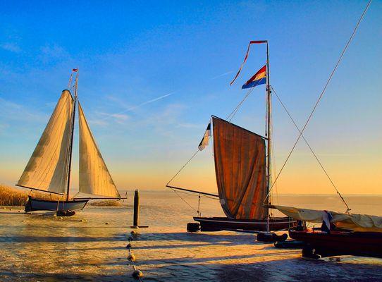 Ice-sailing