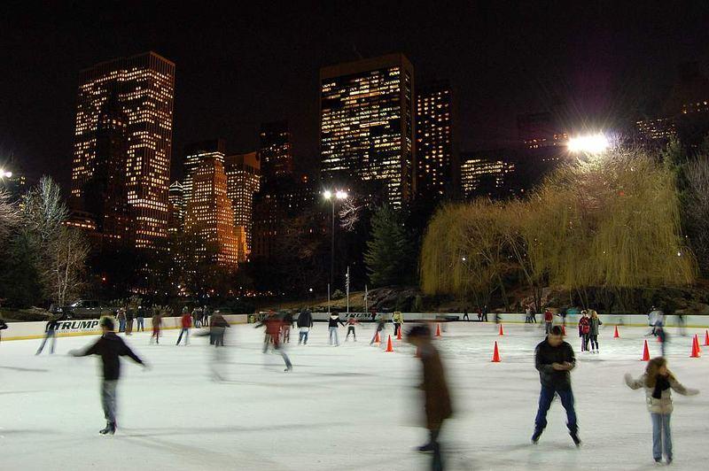 Ice Skating in Central Park