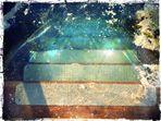 iced steps into Pond