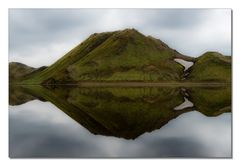 Iceland Impressions - The Green Mountain Mirror