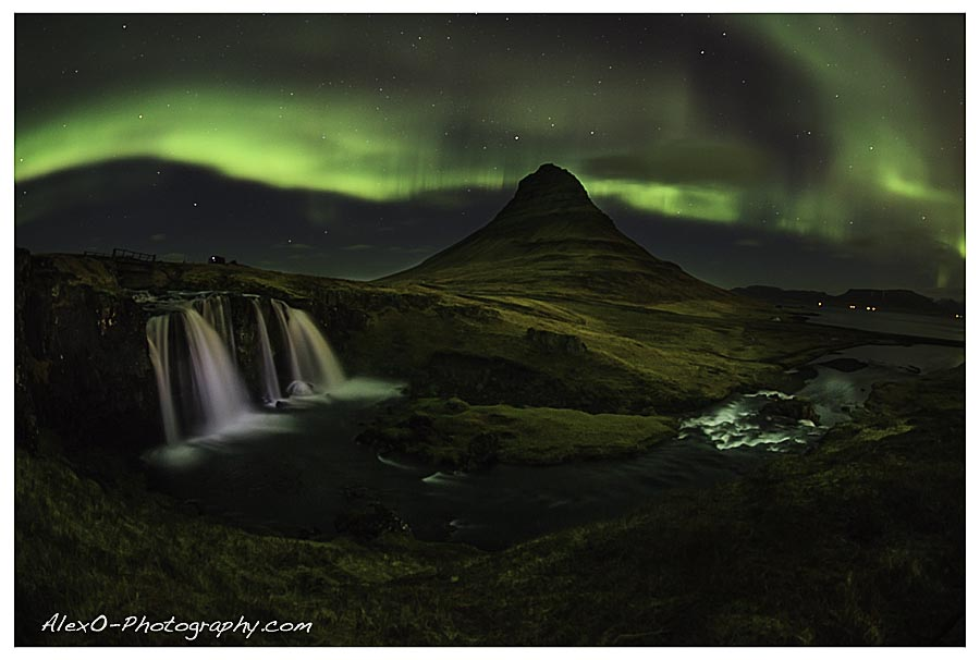 Iceland - Nothern Lights at Kirkjusfell
