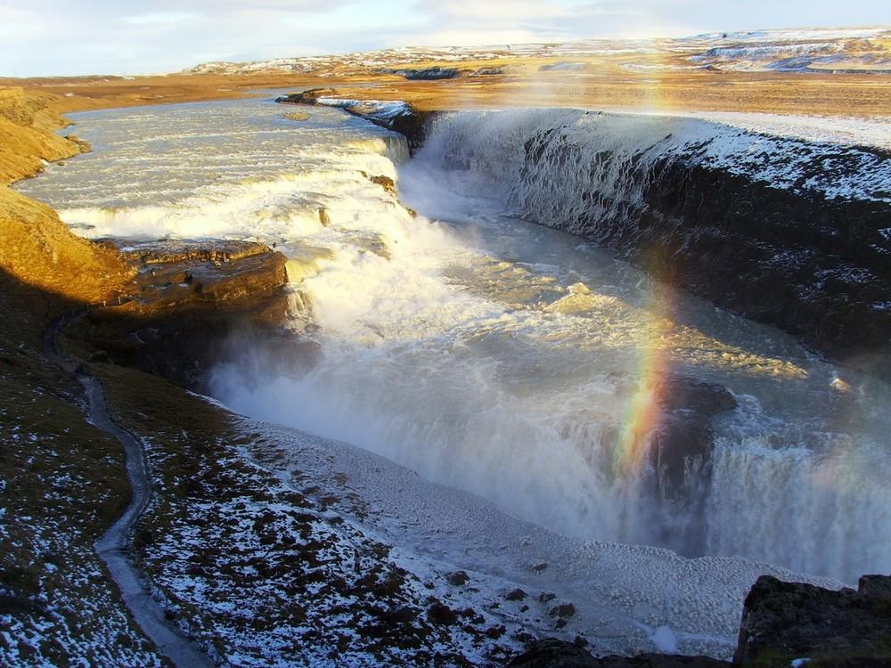 Iceland - Rainbow at Gullfoss