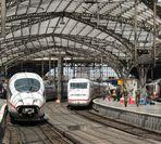 ICE's im Kölner Hauptbahnhof