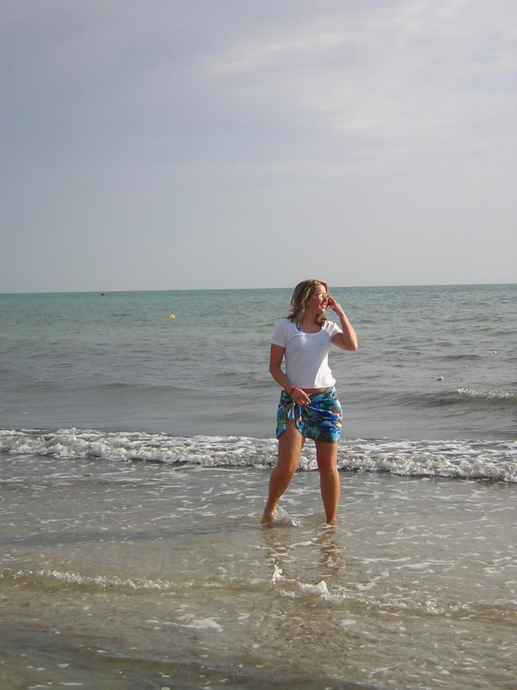 Ich am Strand von Djerba
