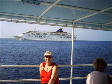 Ich an Bord in der Karibik