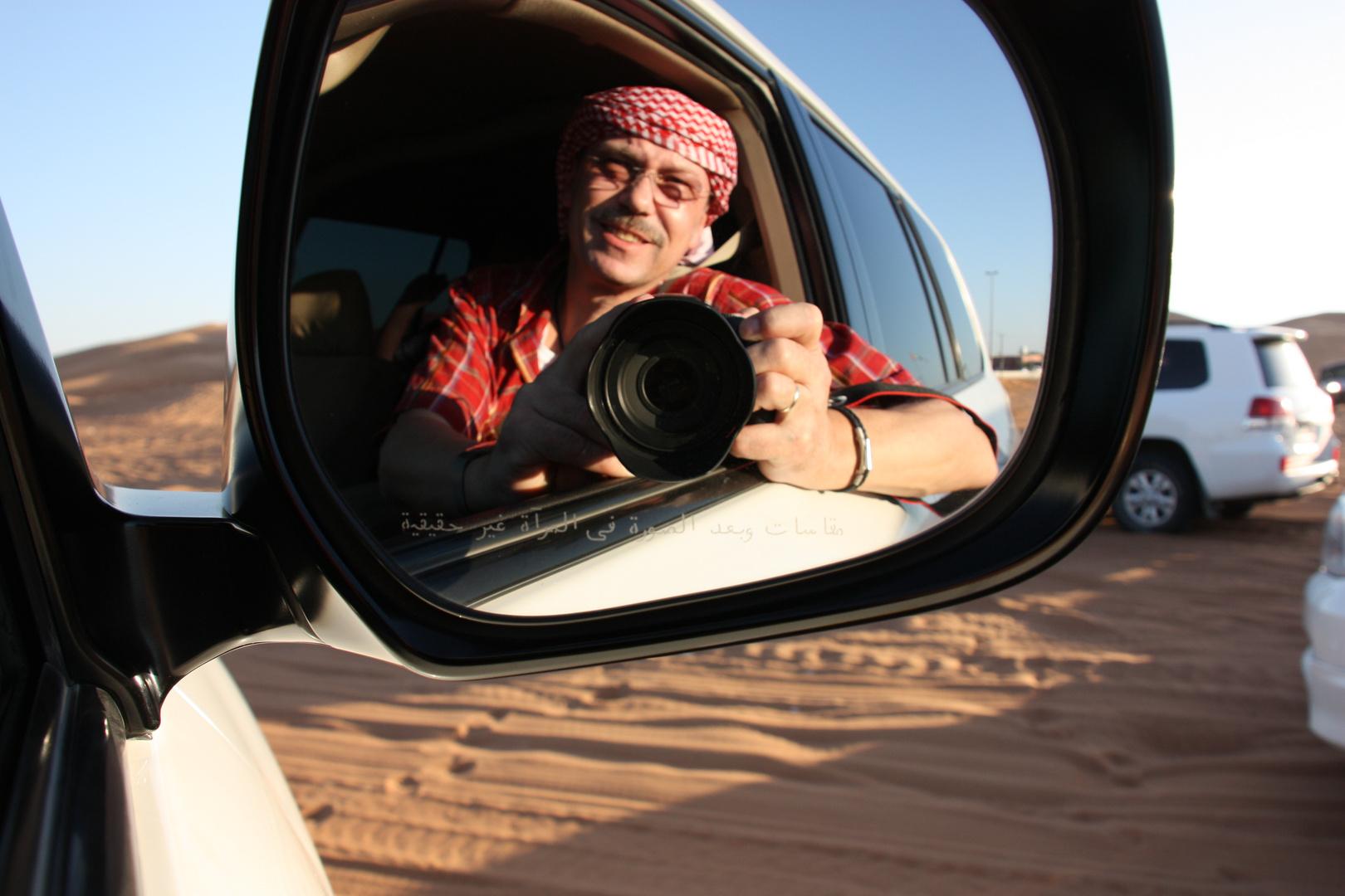 Ich auf Wüstensafari in Dubai