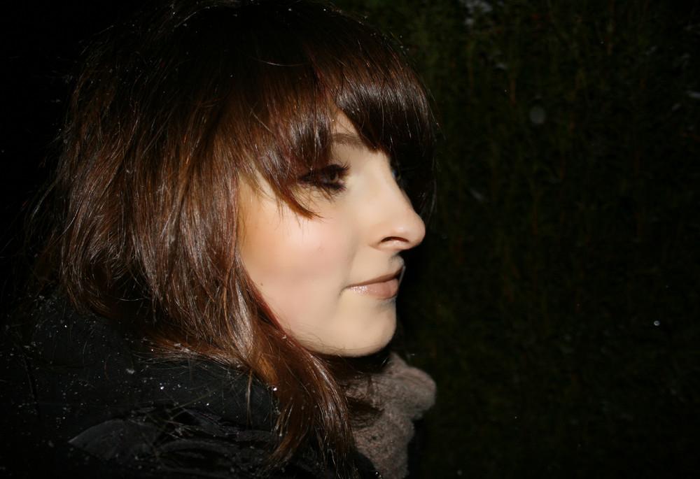 Ich, draußen in der Kälte:)