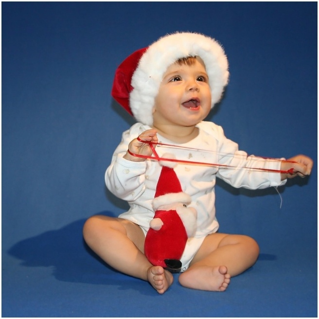 Ich freu mich sooo auf den Weihnachtsmann . .