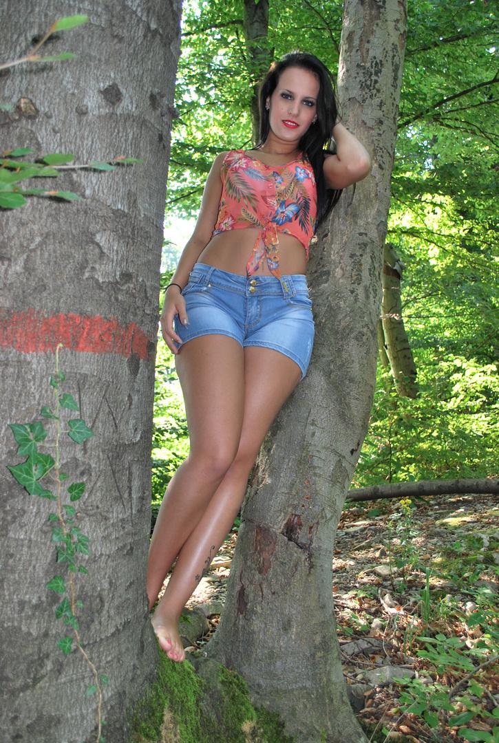 Ich im Wald ...