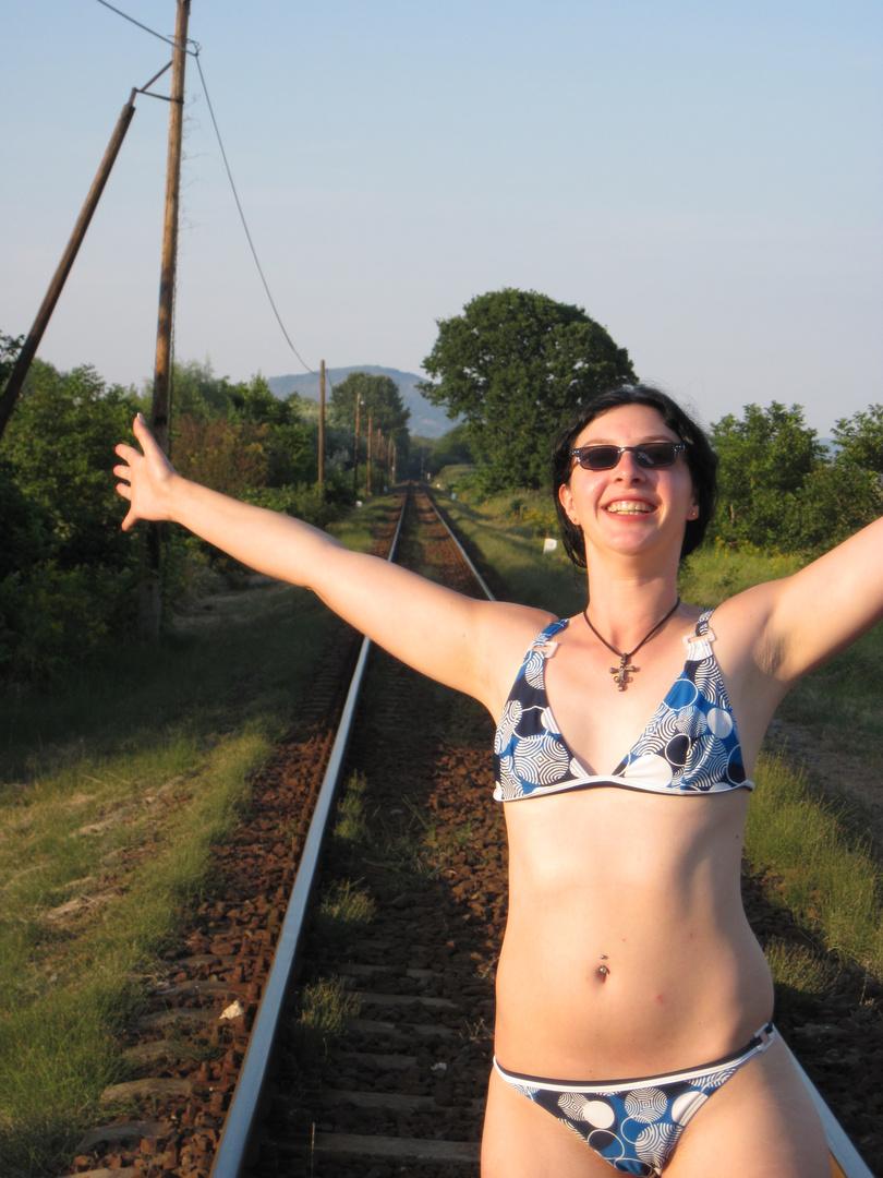 ich in freier Wildbahn (am Balaton)