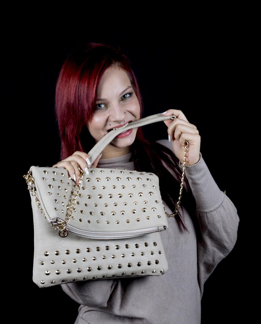 Ich liebe meine Handtasche