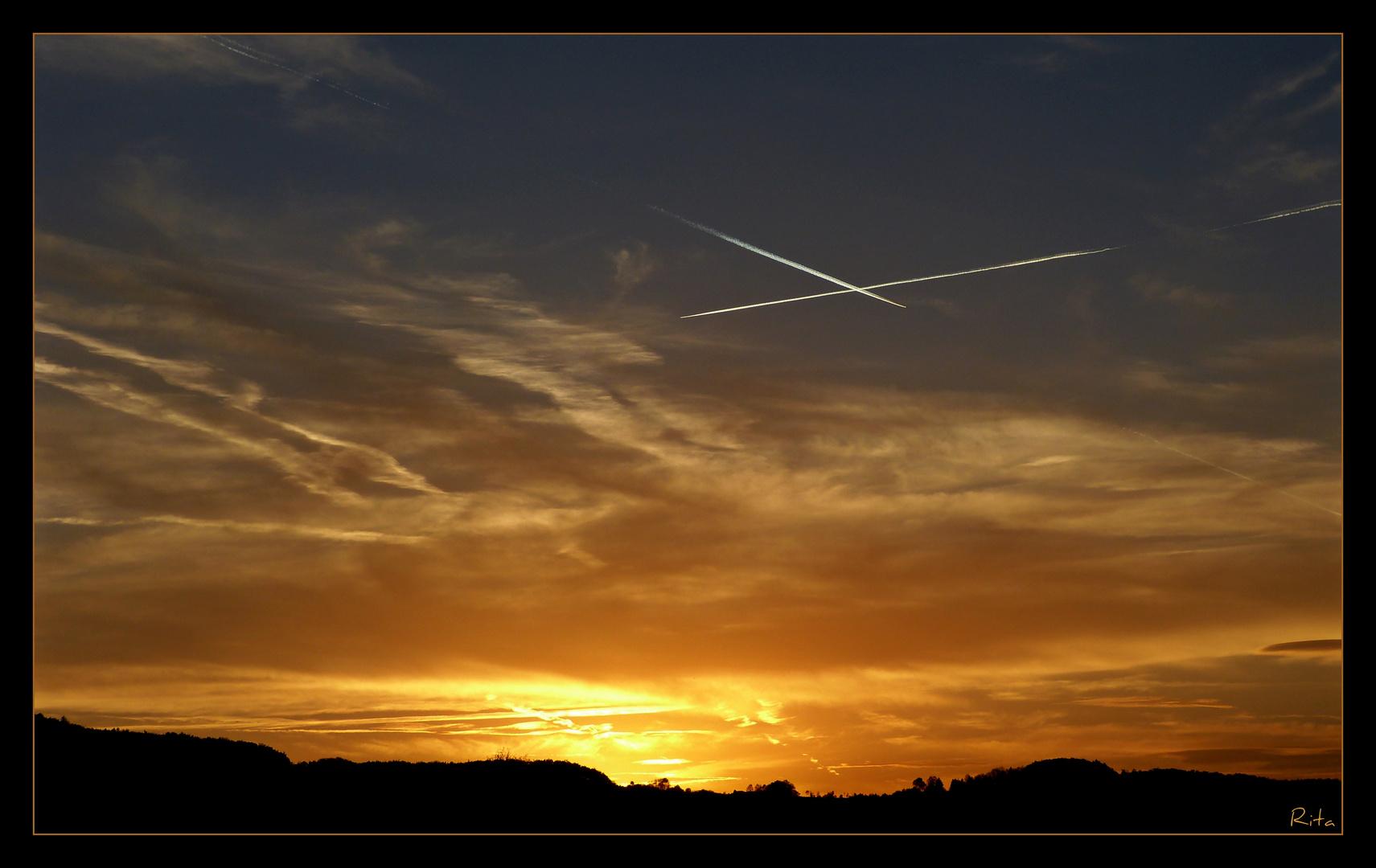 ich liebe Sonnenuntergänge...:-)
