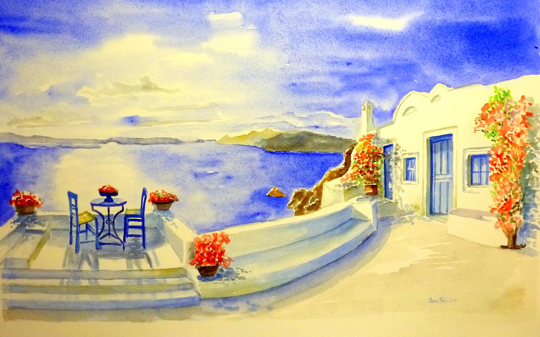 ICH MAL MIR DIE SONNE......und träume von Santorini