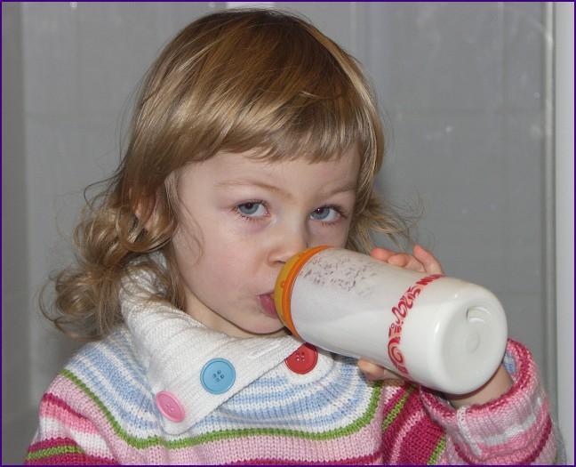... ich & meine Milch - hmmm lecker ! ...