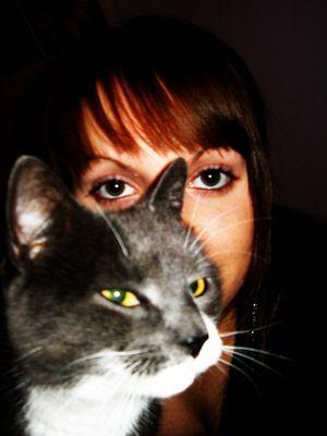 Ich mit meiner Katze