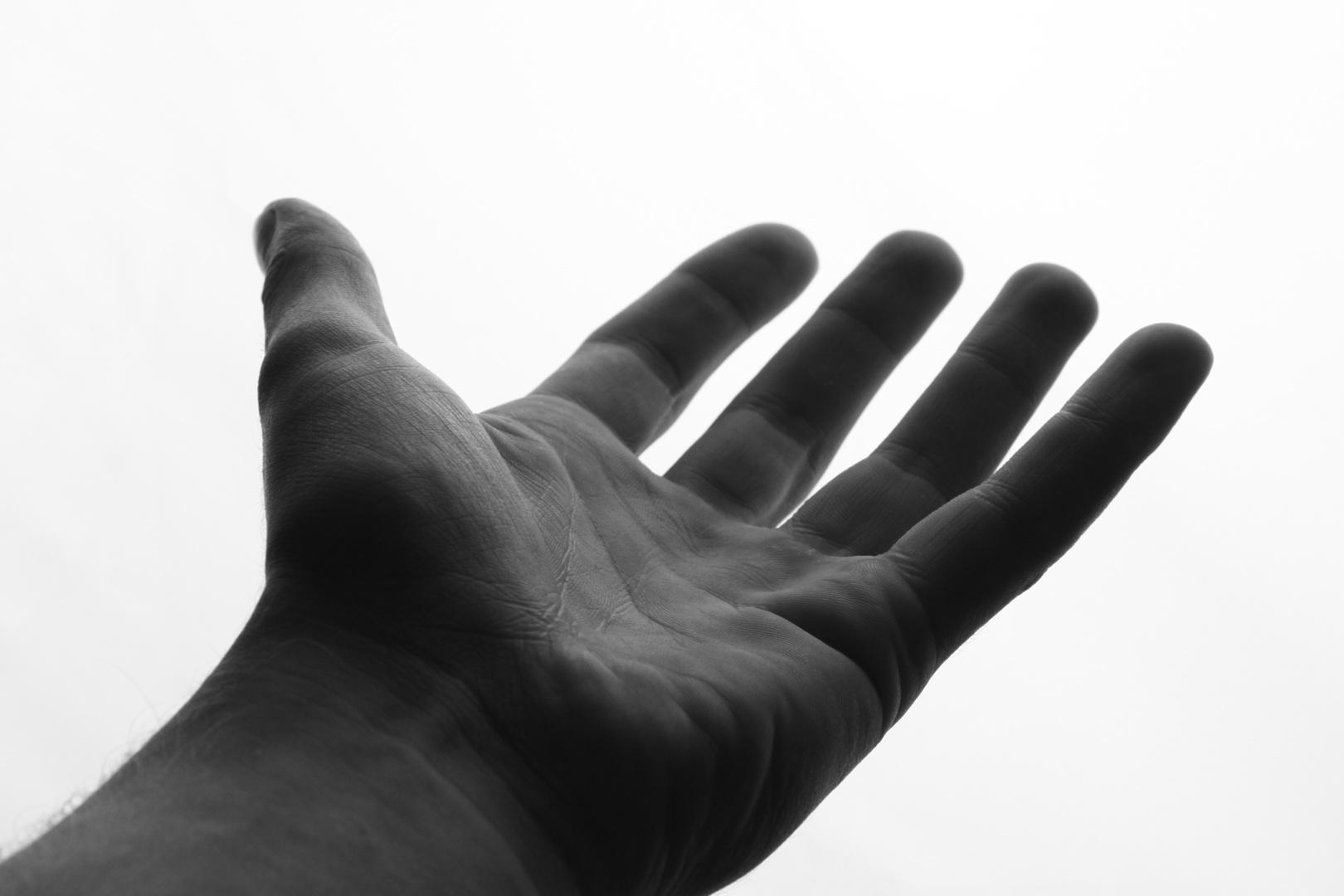....ich reiche dir die Hand...