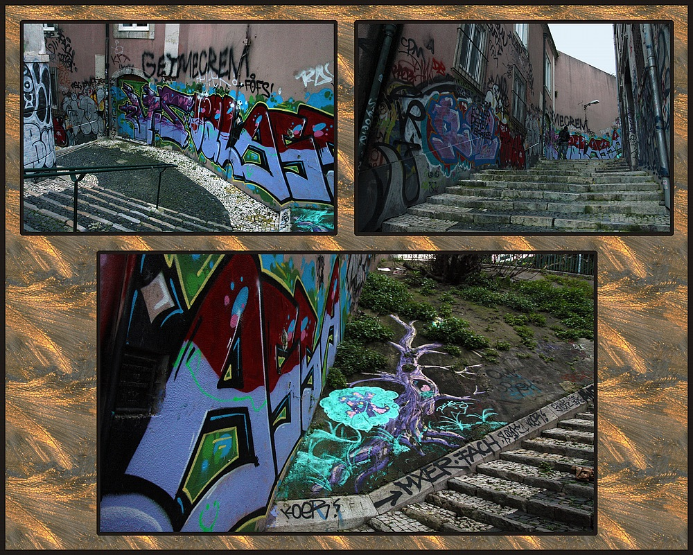 Ich schaue mir gerne Graffiti an ...