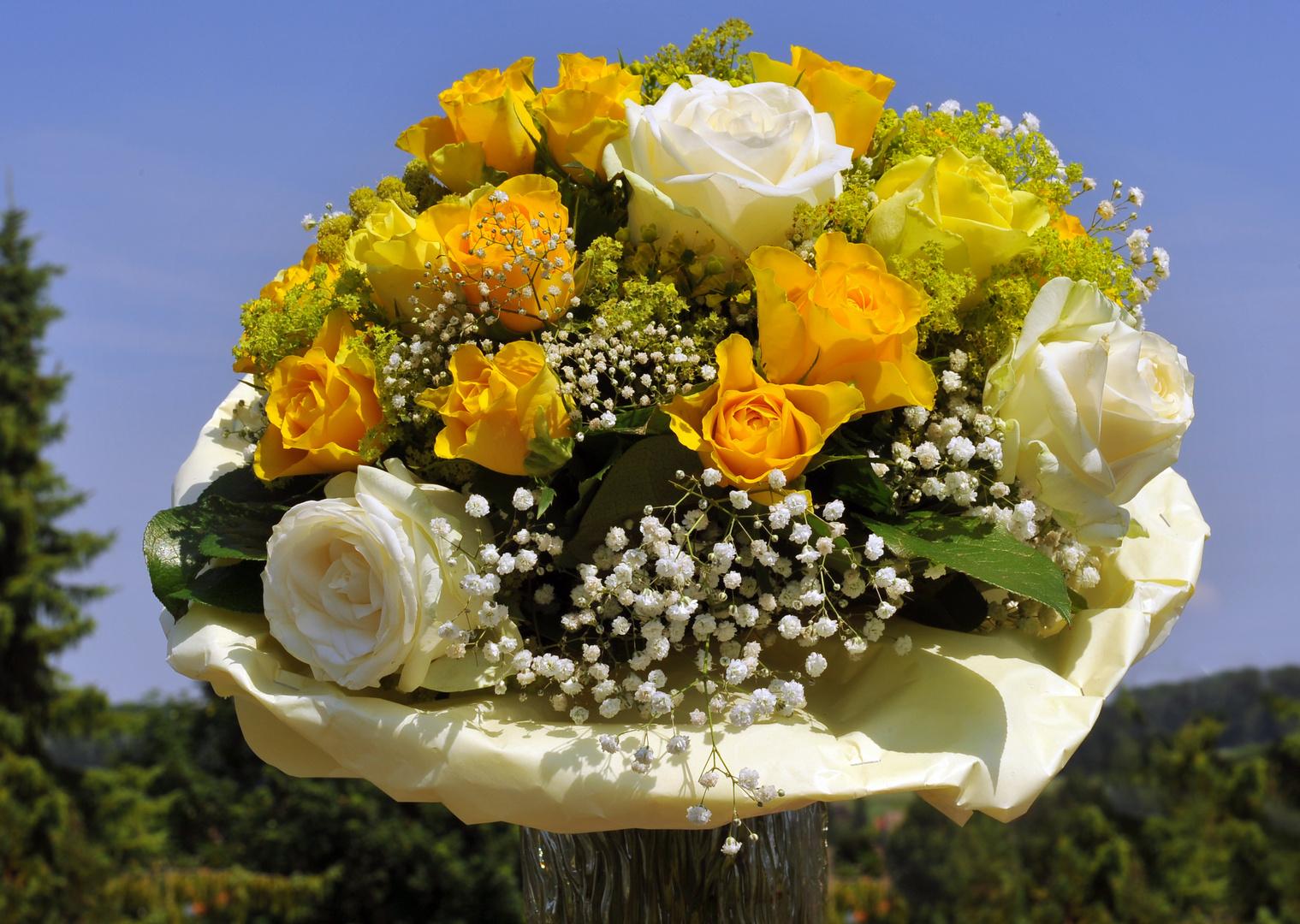 Ich schenke dir ein Blumenstrauß