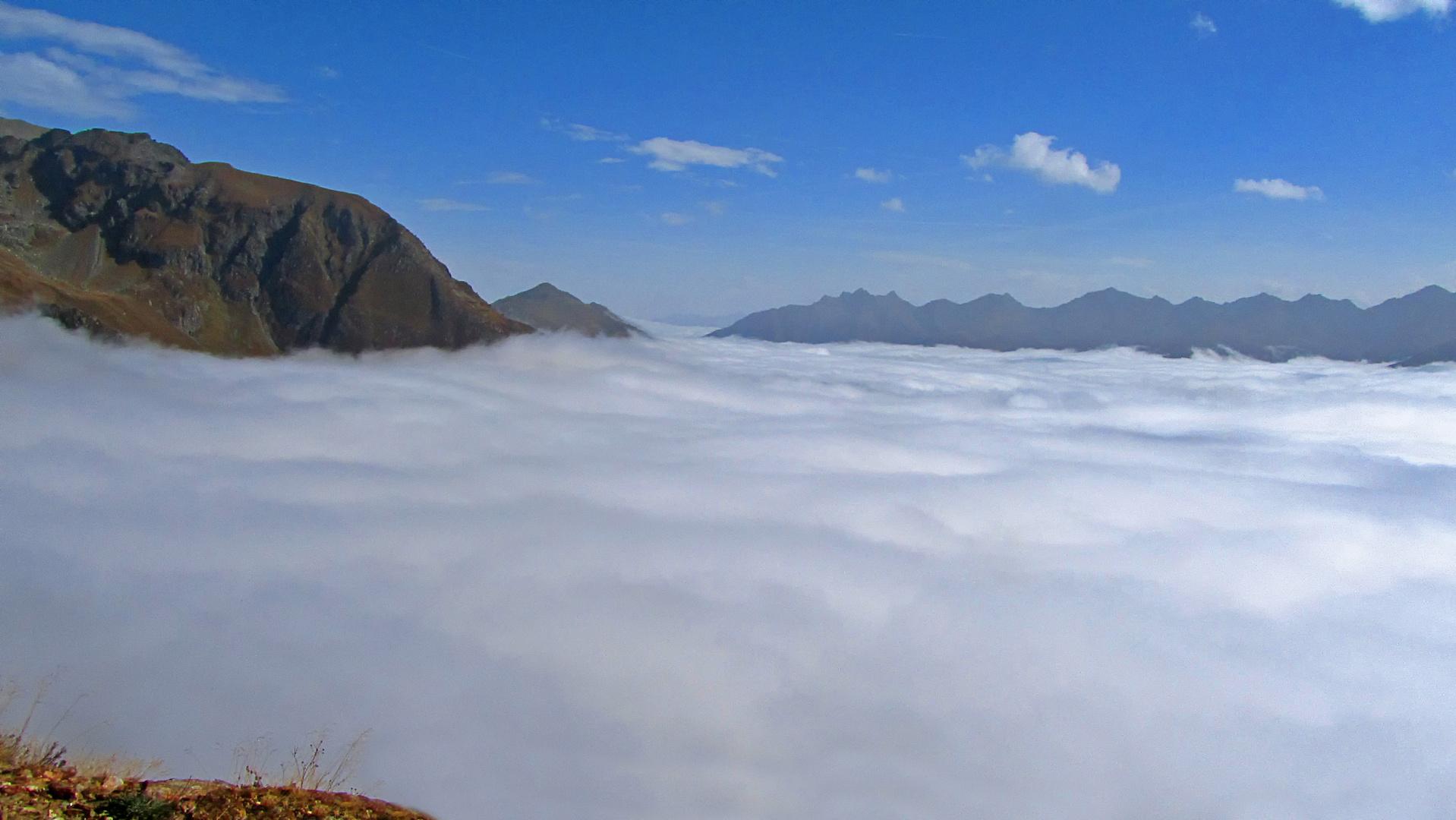 Ich trete auf den Wolkenteppich