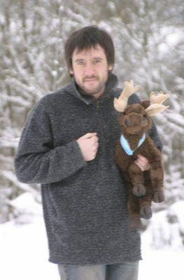 Ich und Andreas im Schnee